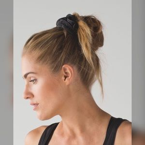Lululemon Black Light Locks Scrunchie